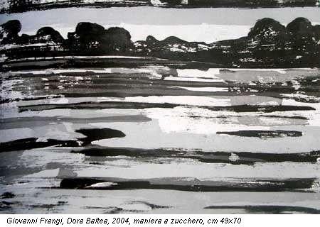 Giovanni Frangi, Dora Baltea, 2004, maniera a zucchero, cm 49x70