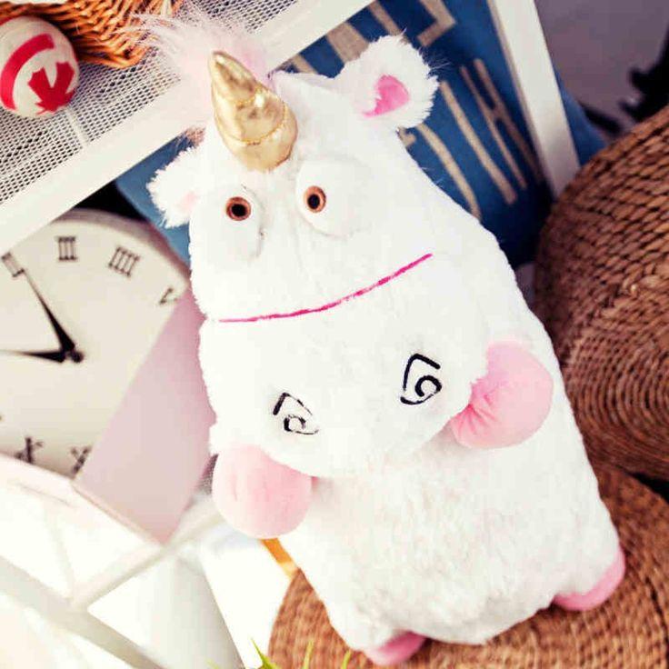 "16"" 40cm Despicable Me Fluffy Unicorn Soft Plush Doll Toy Kids Toys New Brinquedos Minions Soft Stuffed Animal Plush Toys Dolls"