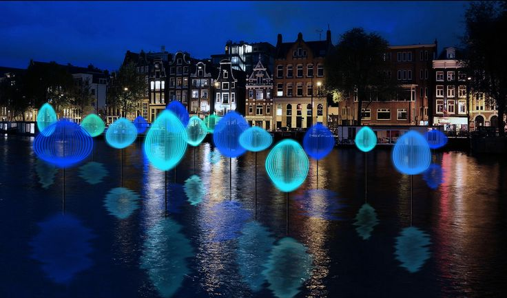 Holon Light is a light art work of the Dutch Michiel Martens & Jetske Visser