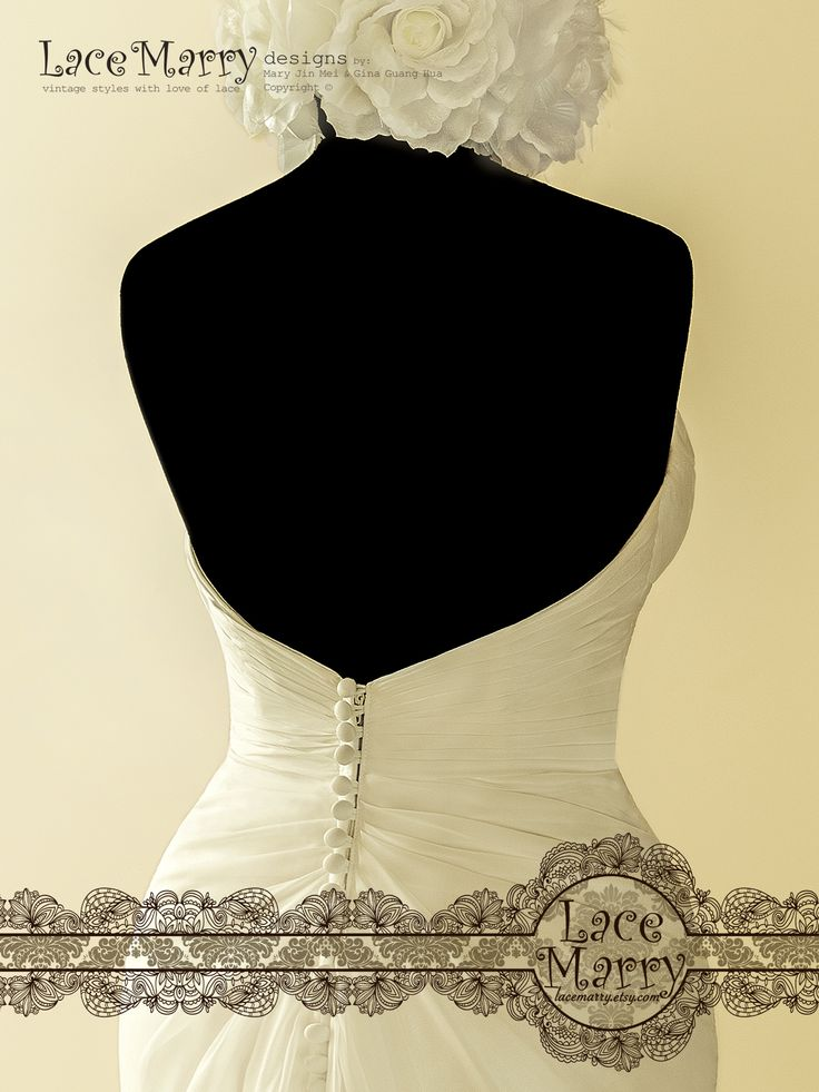 Exclusive but Affordable! Sexy Sweetheart Neckline with Criss-Cross Ruching Design is combined with Deep V Cut Open Back!!!