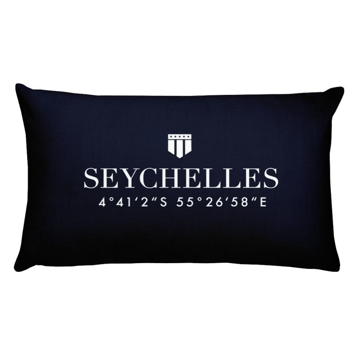 Seychelles Pillow with Coordinates