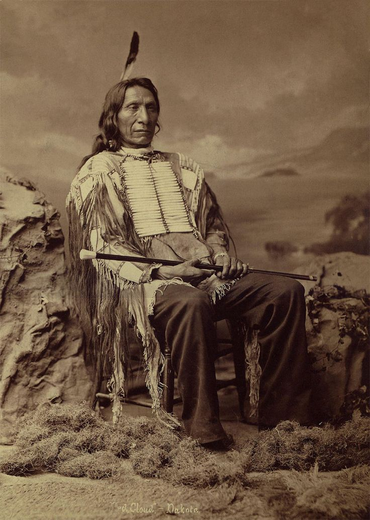 Chief Red Cloud, of the Lakota Sioux (1822 - 1909).