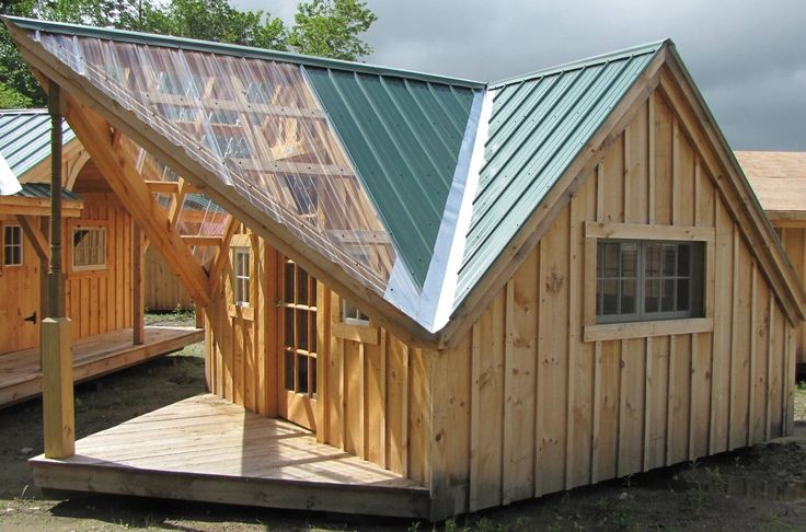 """Our Writers Haven with clear front porch roofing for maximum light. A """"brilliant"""" idea !"""