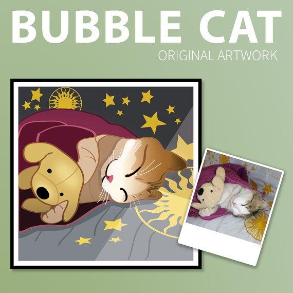 Custom Pet Portrait Cartoonize Your Pet from by BubbleCatShop