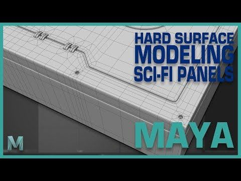 96) Hard Surface Modeling Sci-Fi Panels in Maya 2018