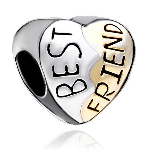 Pugster Heart Best Friend Beads Fit Pandora Charm Bracelet