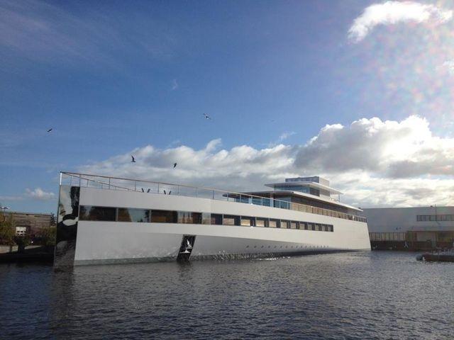 Steve Jobs yacht, basically the iPhone of yachts