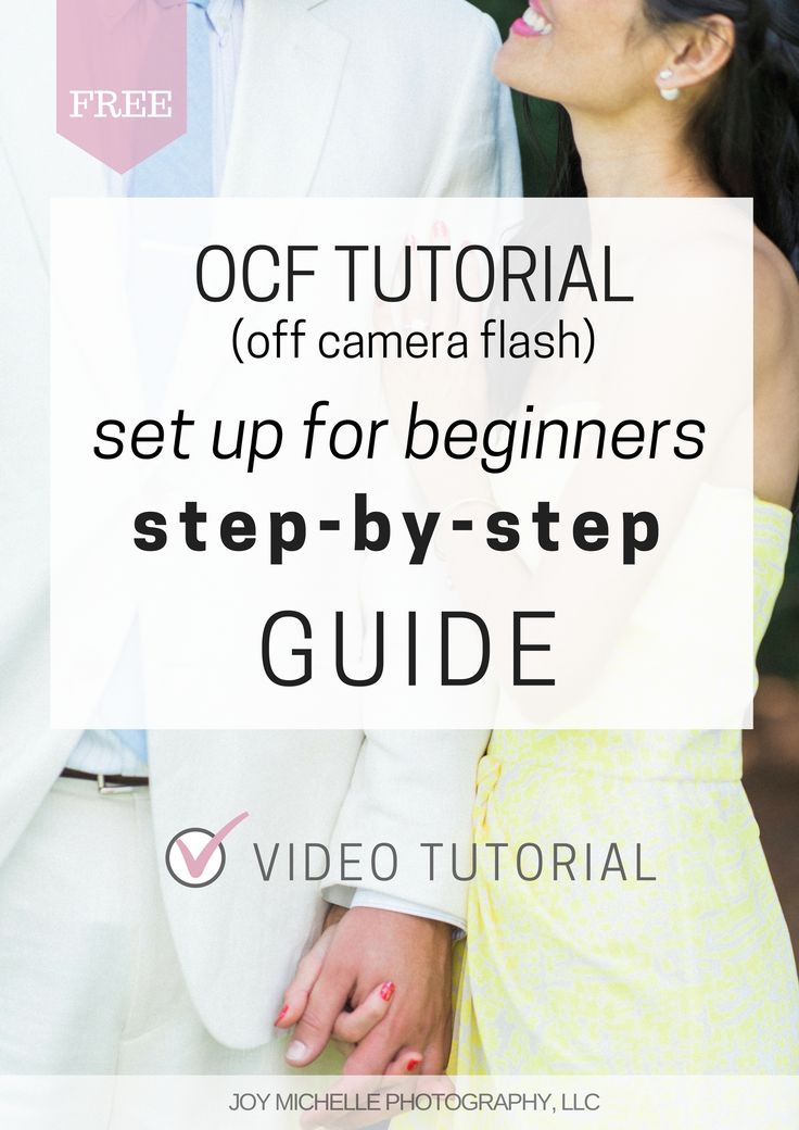 Off camera flash for beginners step by step guide video tutorial walks you through the gear, the settings, and the HOW of OCF.   Wedding photography education by Joy Michelle Photography