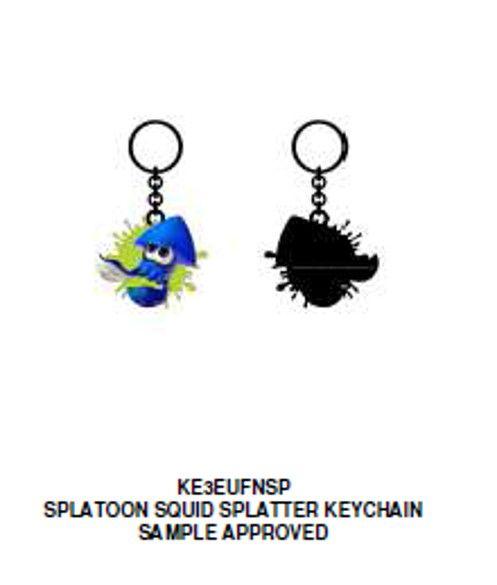 Splatoon Squid Splatter Keychain