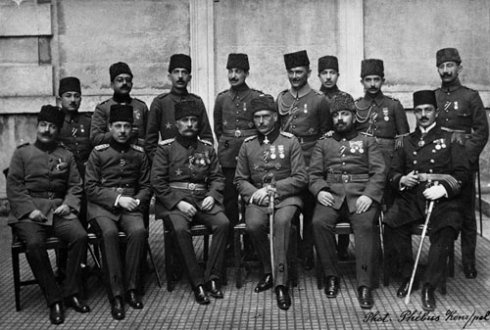 German General Otto Liman von Sanders with officers of the Ottoman High Command during the First World War. This Day in History: Mar 18, 1915: Allies open attack on Dardanelles (Gallipoli Campaign) http://dingeengoete.blogspot.com/