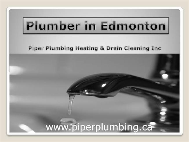 Plumber in Edmonton by plushmarketing via authorSTREAM
