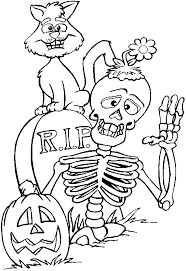 Halloween Skeletons Coloring Pages 7 Colouring Pictures