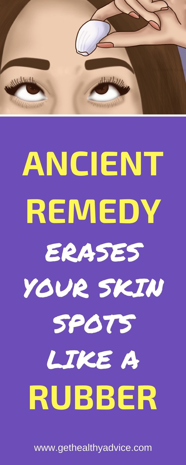 Ancient Remedy Will Erase Spots from Your Skin Like a Rubber!