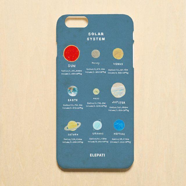 「ソーラーシステム#ブルー 」スマホケース