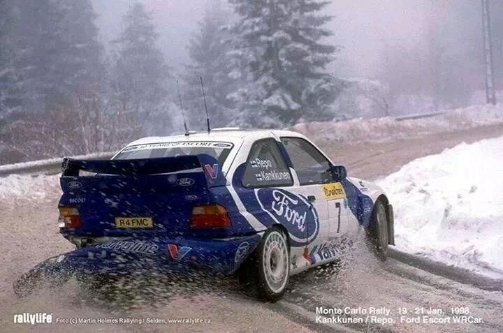Ford Escort WRC in the snow Rallye Monte Carlo