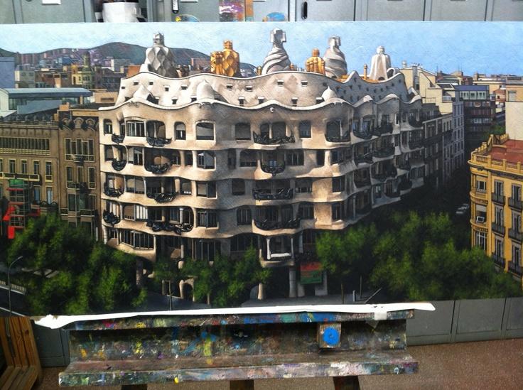 Taller de pintura, joves www.escolatrac.com