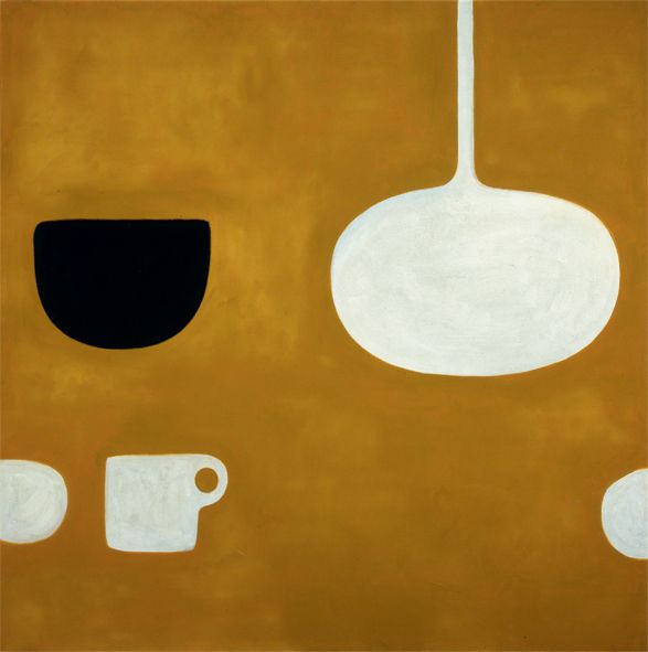 William Scott, Ochre Still Life II, 1970, Oil on canvas, 121.9 × 121.9 cm / 48 × 48 in, Whereabouts unknown