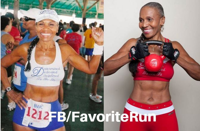 A true inspiration 79-year-old Ernestine Shepherd runs ten miles before her 5:30am breakfast everyday. Over the past 20 years, Shepherd has completed nine marathons and won two bodybuilding contests. Ernestine Shepherd is the oldest competitive female bodybuilder in the world, as declared by the Guinness Book of World Records.
