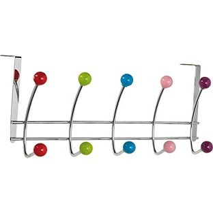Buy HOME 5 Double Coloured Ball Over Door Hooks - Chrome at Argos.co.uk - Your Online Shop for Overdoor storage. $9,99