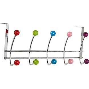 Buy HOME 5 Double Coloured Ball Over Door Hooks - Chrome at Argos.co.uk - Your Online Shop for Overdoor storage. $9,99