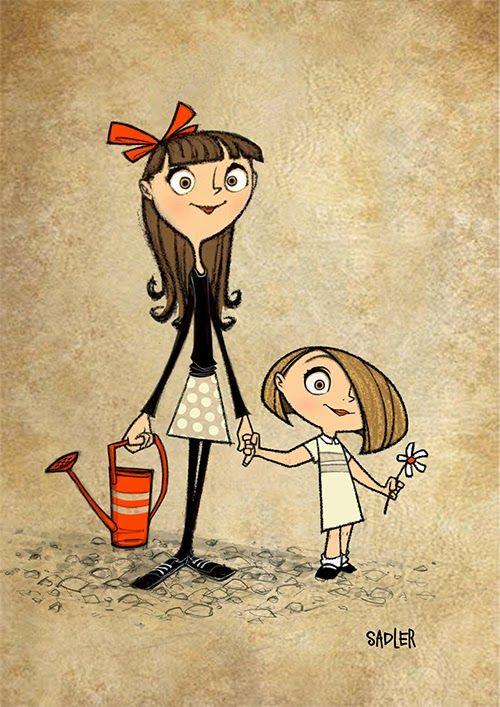 Jason Sadler #hermanas #ilustraciones