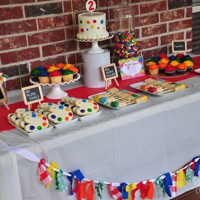 Primary color theme art party! www.mypaperpinwheel.blogspot.com