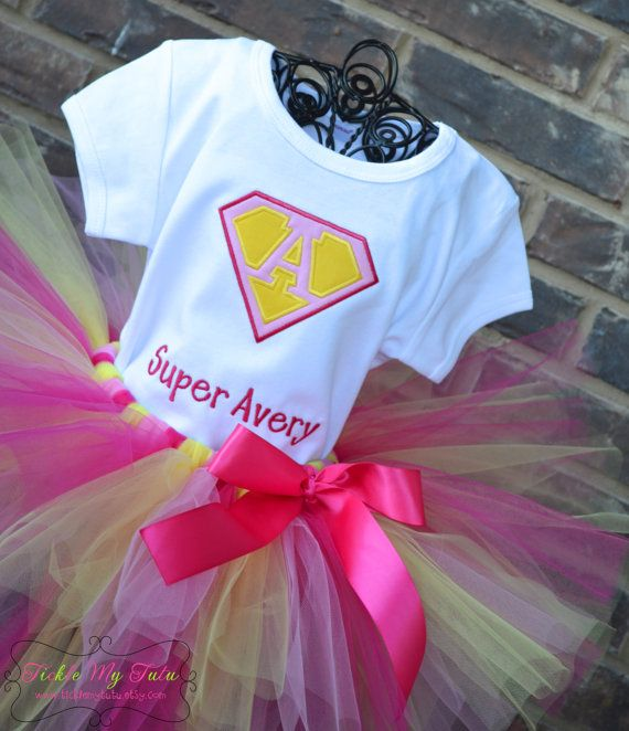 Supergirl Birthday Tutu Outfit Superman Tutu