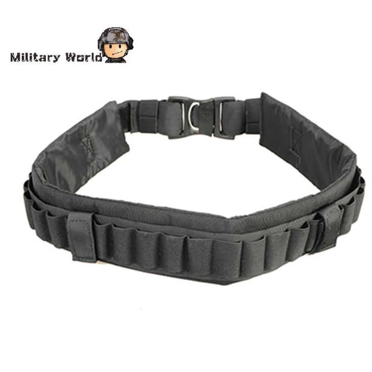 EMERSON Tactical Shotgun Bandolier Bullet Waistband 27 Rounds Hunting Ammo Belts Lightweight Adjustable Rifle Shell Nylon Belt