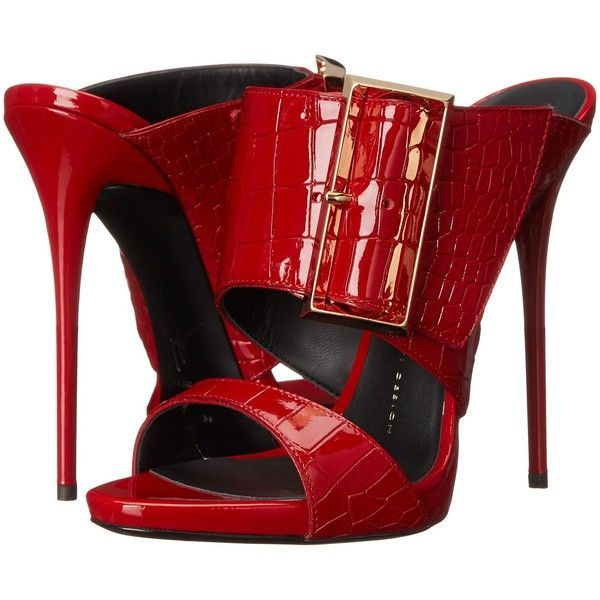 Giuseppe Zanotti I50099 (Ringotto Rossetto) Women's Shoes ($428) ❤ liked on Polyvore featuring shoes, sandals, heels, red, platform shoes, high heel sandals, snakeskin sandals, platform sandals and high heel shoes