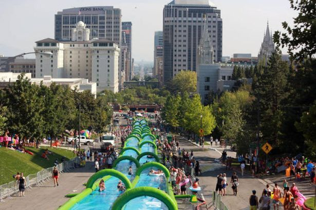 Slide the City set to visit Cardiff this summer with its 300-metre water slide - Wales Online
