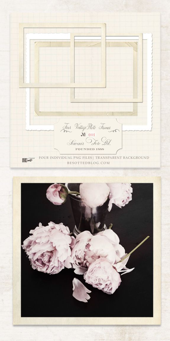 Besotted Blog: VINTAGE BLOG PHOTO FRAMES :: free download
