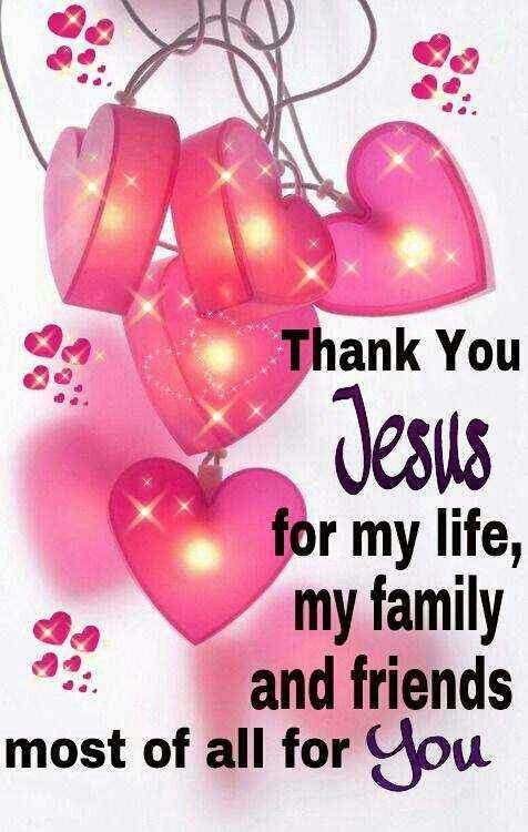 Thank You Jesus For God so loved the world he gave his one and only son Jesus Christ who,once lived, died on the cross for us, and rose again. So we sure ought to thank and praise the Lord as well as Jesus Christ.