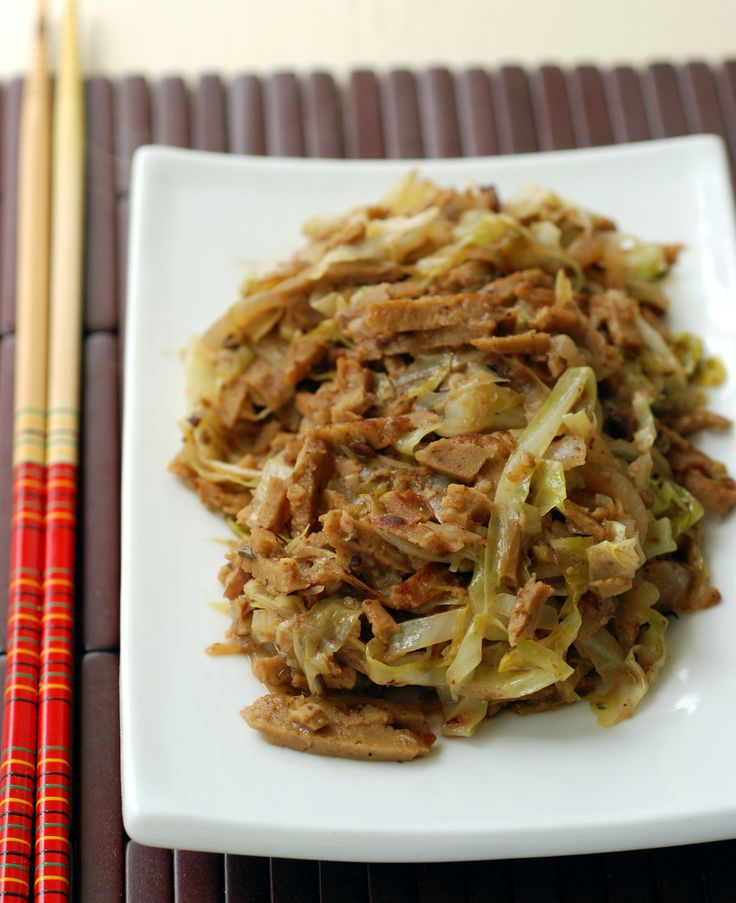 Chinese Cabbage and Seitan with Fermented Black Beans