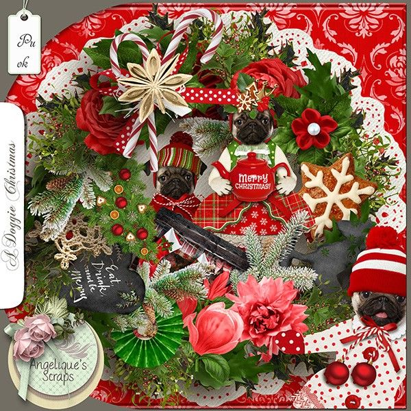 **NEW** A Doggie Christmas by Angelique's Scraps  Available @ http://www.pixelsandartdesign.com/store/index.php?main_page=index&cPath=128_223 http://www.bazarascrap.fr/en/46-angelique-s-scraps http://www.digiscrapbooking.ch/shop/index.php?main_page=index&manufacturers_id=151&zenid=79e0ba80ddf50e0d2da41266ff14c5f1
