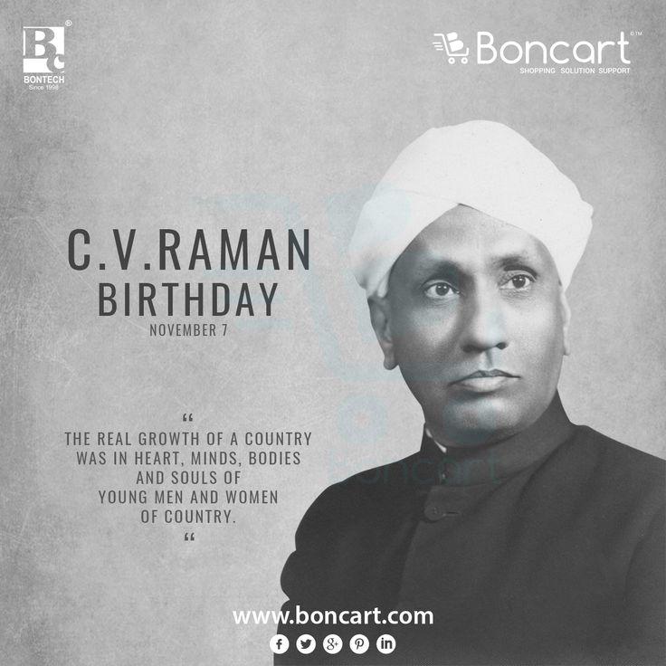 C V Raman Birthday November 7