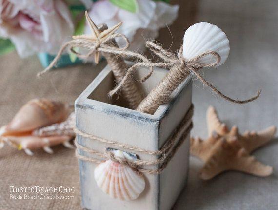 boda en la playa de visitantes pluma Libro y sostenedor de la pluma
