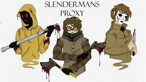 Slenderman's Proxy, text, Masky, Hoodie, Ticci Toby; Creepypasta