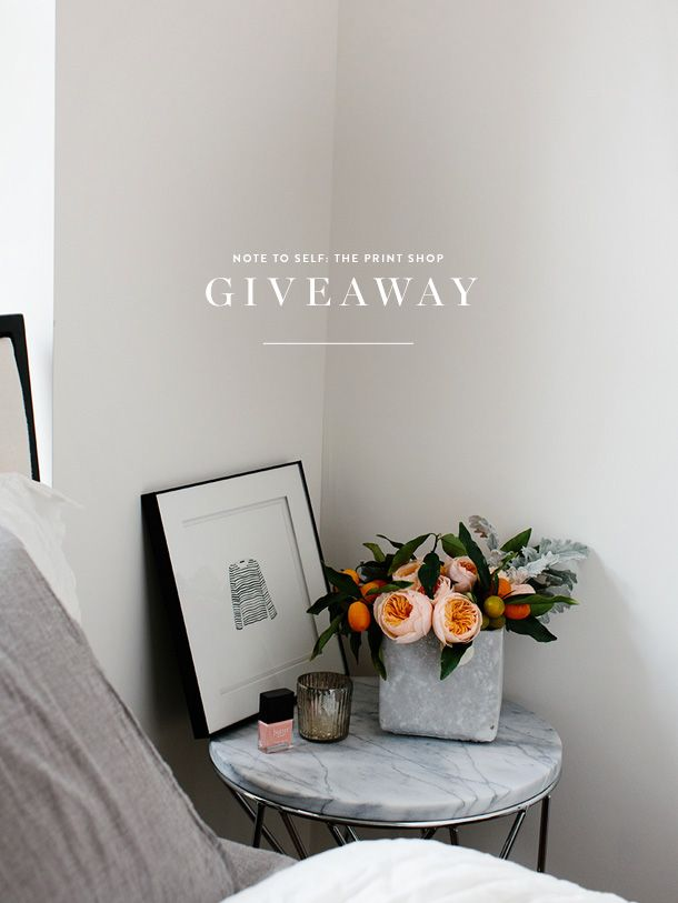 Note to Self: The Print Shop Giveaway!