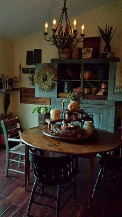 269 Best Images About Primitive Dining Rooms On Pinterest