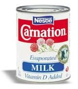 How to whip evaporated milk.  Great substitute for heavy whipping cream.