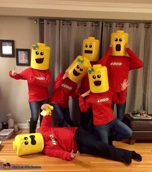 lego minifigures group costume - Halloween Games For Groups