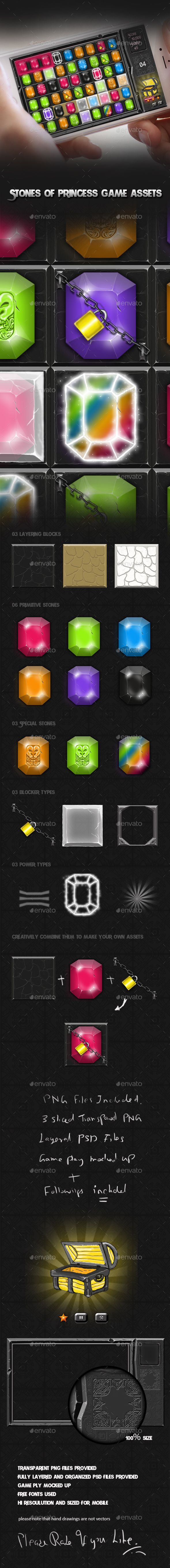 Match 3 Stones - Game Assets - Game Kits #Game Assets Download here: https://graphicriver.net/item/match-3-stones-game-assets/19762507?ref=alena994