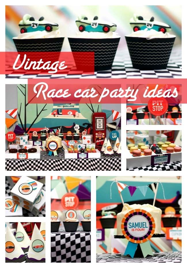 Vintage Race Car Party Ideas - www.spaceshipsandlaserbeams.com