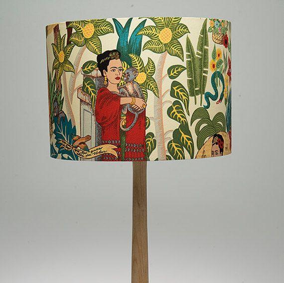 Fabulous  Handmade  Lampshade     Frida Kahlo    door FigoHome