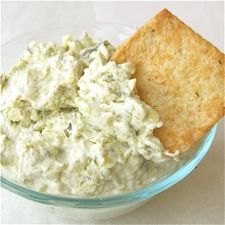 Creamy Artichoke Dip: spread on crostini, or serve with crackers or pita chips.