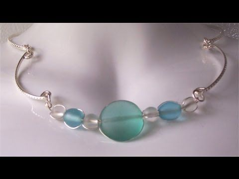 How to Make wire wrapped glass bead necklace