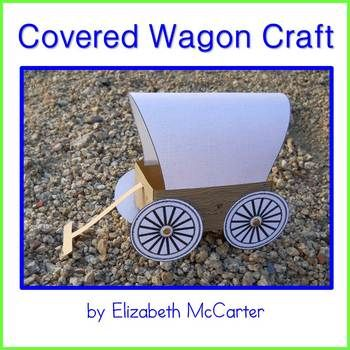 This craft includes templates to create the covered wagon pictured in the photo as well as alternative templates that allow you to add your own wood-grain finish to the wagon body, fabric look to the bonnet, and a choice of wheels for a unique result.