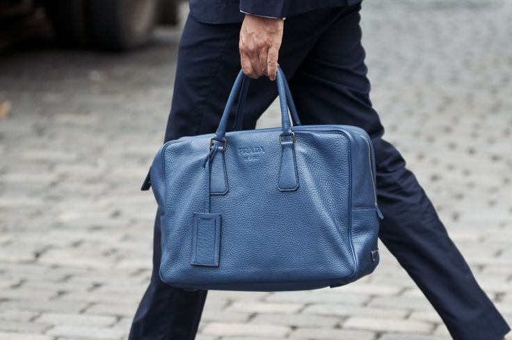 When I\u0026#39;m feeling \u0026#39;Blue\u0026#39; Prada Briefcase | mensWEAR | Pinterest ...