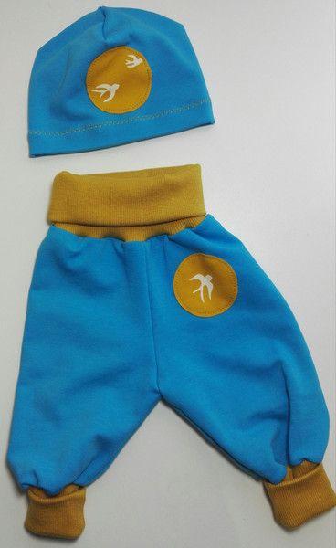 Hosen - Babyset Schwalbe Hose und Mütze - ein Designerstück von Mauseline-Piepklein bei DaWanda