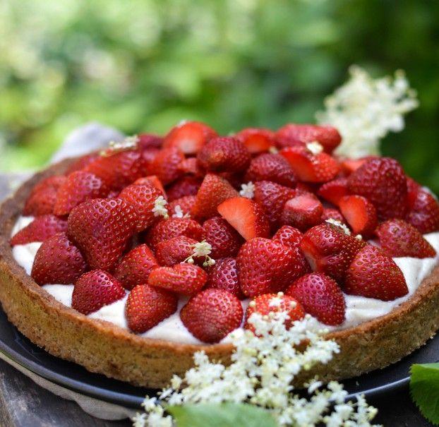 AFPRØVET med succes. Danish Strawberry Summer Pie
